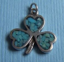 Vintage clover with turquoise sterling charm