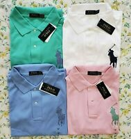 Big & Tall Polo Ralph Lauren Mens Big Pony Classic Fit Mesh Polo Shirt New
