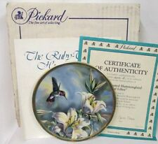 RUBY THROATED HUMMINBIRD &LILIES~Cyndi Nelson~1989 Collector Plate~MIB w/COA~NEW