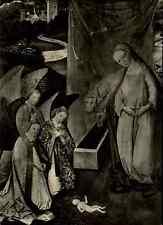 Religion Motiv-Postkarte Schöppinger Altar Geburt Christi alte s/w ~1960 ungel.