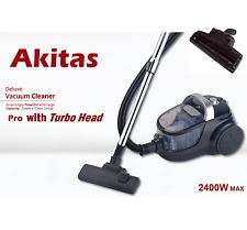 Japan Akitas Pro 2400W Bagless Cyclone Vacuum Cleaner With Turbo Head