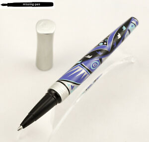 Waterman Audace Rollerball / Ballpoint Pen Blue Totem from around 2005