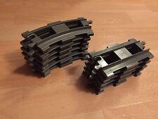 LEGO Duplo Eisenbahn - gerade & gebogene (hell)graue Schienen- Erweiterungsset