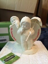 Department 56 Snowbabies P.S. I Love You with Flat Gift NIB Personalized