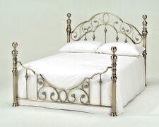 LAVISH FLORENCE ANTIQUE BRASS EFFECT BED FRAME BEDSTEAD 5FT KING SIZE*FREE P&P**