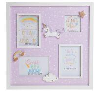 Unicorn Collage Multi Photo Frame  Home Decor Gift Idea