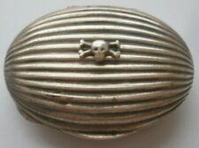 Vintage box  SILVER Mark 800 Case Skull and Bones Military G Ciardetti Decor