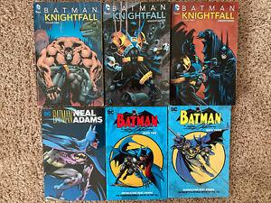 Graphic Novel Lot Batman Knightfall Omnibus Vol 1 2 3 TPB Neal Adams Complete DC