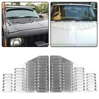 FOR Jeep XJ Cherokee Aluminum Hood Louver Bolt On Vent Panels Kit Cooling NEW