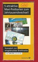 BRD BUND   (617 36)   5 ATTRAKTIVE MAXI-POSTKARTEN MIT SONDERSTEMPEL 31.12.1999