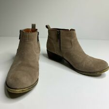 Lucky Brand tan betwixt tan suede leather ankle booties size 8 fall winter