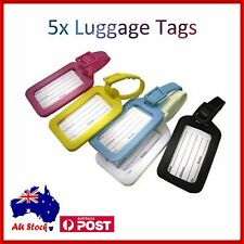 5 x Luggage Tag Tavel ID Tags Plastic Address Label for School Backpack Handbag
