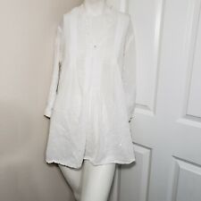 chicos sheer white top size 2