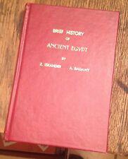 Brief History of ANCIENT EGYPT 1954 Third Edition ISKANDER/BADAWY Rare LOOK