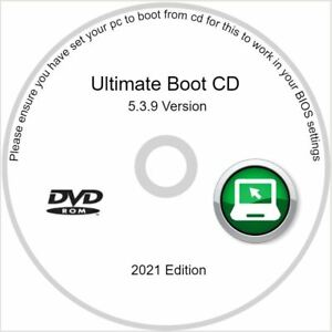 Ultimate Boot CD Restore, Repair, and Recovery for Windows XP Vista 7 8 10 DVD