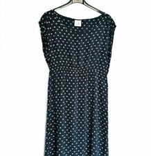 Mama Licious Maternity Dress Navy & White Abstract Summer Size M UK 10