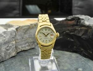1956 Rolex Lady-Datejust 18k Yellow Gold 26mm Automatic Wristwatch