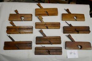 (#4) 10 Stück schöne alte Hobel, Profilhobel, Nuthobel, Holzhobel, Grathobel