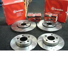 VW GOLF MK4 1.8GTi TURBO BRAKE DISC BREMBO CROSS DRILLED MINTEX BRAKE PAD FR RR