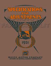 1931 Buick Shop Manual 31 Repair and Service All Models Series 50 60 80 90