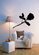 Wall Stickers Vinyl Decal Black Rose Flower Floral Decor For Bedroom (z1729)