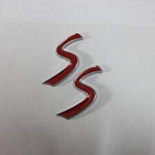 2PCS S Red Metal Badge Sticker Emblem Deca Power jcw f57 Turbo Motors Sports 3D