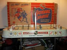 1960 Eagle Toys LTD NHL National League Electric Hockey Game Made In Canada