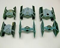 Lot of 6 Vintage Star Wars Fleet Tie Fighters Ships AS-IS