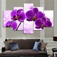 5pcs  Framed Flowers Abstract Canvas Print Painting Picture Wall Art Home Decor