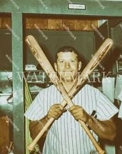 E560 Mickey Mantle NY Yankees Bat Pose 8x10 11x14 16x20 Oil Painting Photo