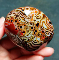 TOP 79.4G Natural Polished Silk Banded Lace Agate Crystal Madagascar YT846