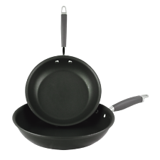 Anolon Advanced Twin Pack Skillets 20cm & 26cm Open French Frypans Hard Anodised