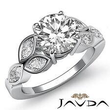 Splendid Round Diamond Engagement Bezel Set Ring GIA F SI1 14k White Gold 2.5ct