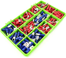 210 ASSORTED INSULATED ELECTRICAL WIRE TERMINALS CRIMP CONNECTORS SPADE KIT