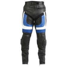 Tute in pelle e altri tessuti traspirante blu in pelle per motociclista