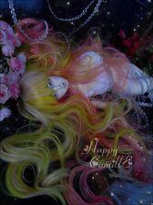 Bjd Doll Wig 1/3 8-9 Dal Pullip AOD DZ AE SD DOD LUTS Dollfie/ GOLD PINK Hair/
