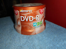 MEMOREX DVD+R 16x 4.7GB 120min. 50 Pack Cake Spindle ~ New ~ Factory Sealed ~