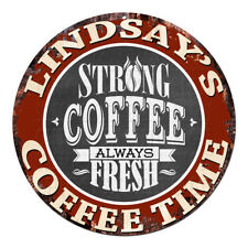 CWCT-0302 LINDSAY'S COFFEE TIME Chic Tin Sign Decor Gift Ideas