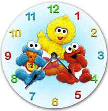 SESAME STREET Babies Wall Clock Nursery Art Personalized Custom Room Decor
