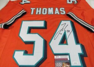 Zach Thomas Miami Dolphins Signed Autographed Jersey JSA