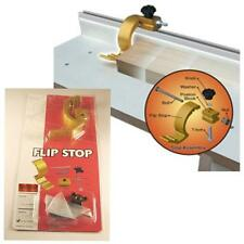 "FLIP STOP - 1/4"" FOR MINI / SMALL T-TRACK T-SLOT , SAW MITER FENCE STOP"