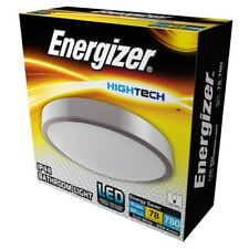 10w Energizer LED Silver Bathroom Ceiling Light Fitting IP44 4000k Cool White