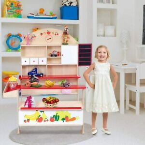 Kaufmannsladen Kinderladen Einkaufsladen Supermarktstand Verkaufsstand(Holz)
