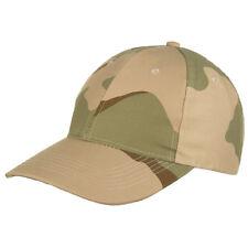 Mfh Uomo Cappellino Baseball Esercito Militare regolabile Deserto 3 colore Camo