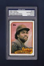 Tony Gwynn signed San Diego Padres 1989 Topps baseball card Psa