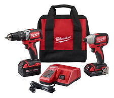 Milwaukee 2799-22CX M18 Compact Brushless Hammer Drill & Impact Combo