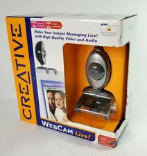 Creative Live WebCam VF0050 Camera with Clip Built In Microphone NEW