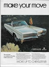 1968 Chrysler 300 Convertible 440 CI V-8 Original Vintage Paper Print Ad
