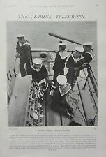 1902 PRINT ~ MARINE TELEGRAPH SIGNAL FROM FLAG-SHIP ADMIRALS BRIDGE