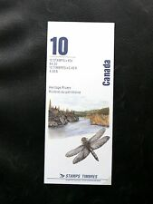 TIMBRES DU CANADA : 1991 CARNET DE 10 TIMBRES RIVIERES DU PATRIMOINE ** TBE
